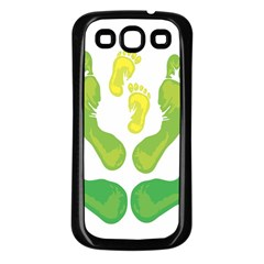 Soles Feet Green Yellow Family Samsung Galaxy S3 Back Case (black) by Alisyart