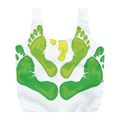 Soles Feet Green Yellow Family Full Print Recycle Bags (l)