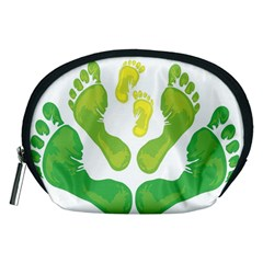 Soles Feet Green Yellow Family Accessory Pouches (medium)  by Alisyart