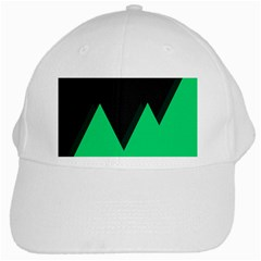 Soaring Mountains Nexus Black Green White Cap by Alisyart