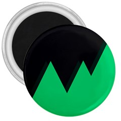 Soaring Mountains Nexus Black Green 3  Magnets by Alisyart