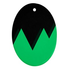 Soaring Mountains Nexus Black Green Ornament (oval) by Alisyart