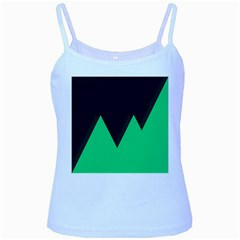 Soaring Mountains Nexus Black Green Baby Blue Spaghetti Tank by Alisyart