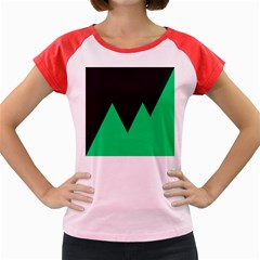 Soaring Mountains Nexus Black Green Women s Cap Sleeve T Shirt by Alisyart