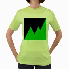 Soaring Mountains Nexus Black Green Women s Green T Shirt by Alisyart