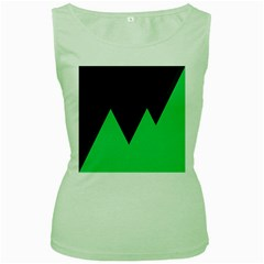 Soaring Mountains Nexus Black Green Women s Green Tank Top by Alisyart