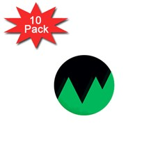 Soaring Mountains Nexus Black Green 1  Mini Buttons (10 Pack)  by Alisyart