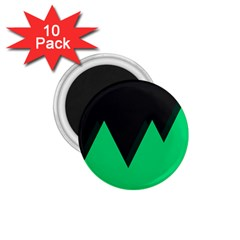 Soaring Mountains Nexus Black Green 1 75  Magnets (10 Pack)  by Alisyart