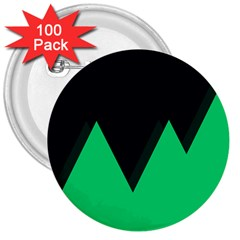 Soaring Mountains Nexus Black Green 3  Buttons (100 Pack)  by Alisyart