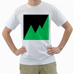 Soaring Mountains Nexus Black Green Men s T Shirt (white) (two Sided) by Alisyart