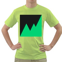 Soaring Mountains Nexus Black Green Green T Shirt by Alisyart