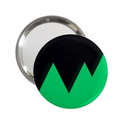Soaring Mountains Nexus Black Green 2 25  Handbag Mirrors by Alisyart