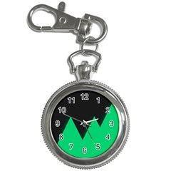 Soaring Mountains Nexus Black Green Key Chain Watches by Alisyart