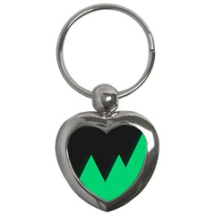 Soaring Mountains Nexus Black Green Key Chains (heart)  by Alisyart