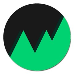 Soaring Mountains Nexus Black Green Magnet 5  (round) by Alisyart