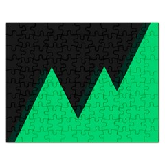 Soaring Mountains Nexus Black Green Rectangular Jigsaw Puzzl by Alisyart