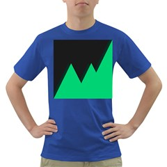 Soaring Mountains Nexus Black Green Dark T Shirt by Alisyart