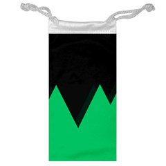 Soaring Mountains Nexus Black Green Jewelry Bag by Alisyart