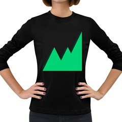 Soaring Mountains Nexus Black Green Women s Long Sleeve Dark T Shirts by Alisyart