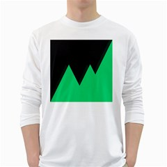 Soaring Mountains Nexus Black Green White Long Sleeve T Shirts