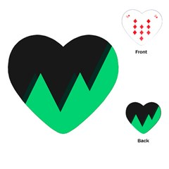 Soaring Mountains Nexus Black Green Playing Cards (heart)  by Alisyart
