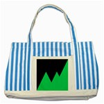 Soaring Mountains Nexus Black Green Striped Blue Tote Bag Front