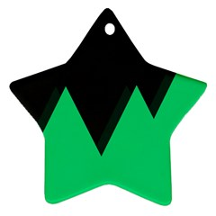 Soaring Mountains Nexus Black Green Star Ornament (two Sides) by Alisyart