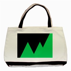 Soaring Mountains Nexus Black Green Basic Tote Bag (two Sides) by Alisyart