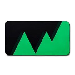 Soaring Mountains Nexus Black Green Medium Bar Mats by Alisyart