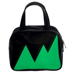 Soaring Mountains Nexus Black Green Classic Handbags (2 Sides) by Alisyart