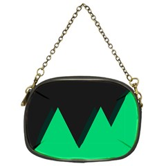 Soaring Mountains Nexus Black Green Chain Purses (one Side)  by Alisyart