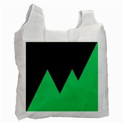 Soaring Mountains Nexus Black Green Recycle Bag (one Side) by Alisyart