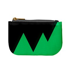 Soaring Mountains Nexus Black Green Mini Coin Purses by Alisyart