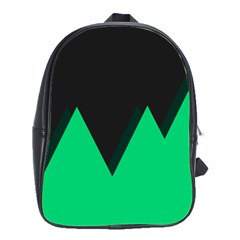 Soaring Mountains Nexus Black Green School Bags(large)  by Alisyart