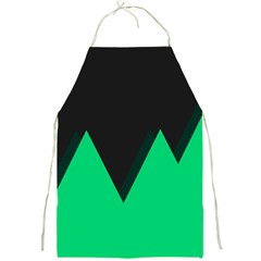 Soaring Mountains Nexus Black Green Full Print Aprons by Alisyart