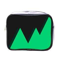 Soaring Mountains Nexus Black Green Mini Toiletries Bags by Alisyart