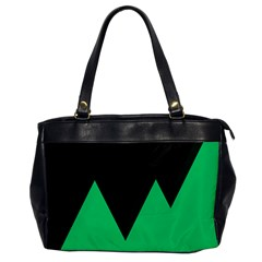Soaring Mountains Nexus Black Green Office Handbags by Alisyart