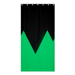 Soaring Mountains Nexus Black Green Shower Curtain 36  X 72  (stall)  by Alisyart