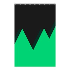 Soaring Mountains Nexus Black Green Shower Curtain 48  X 72  (small)  by Alisyart