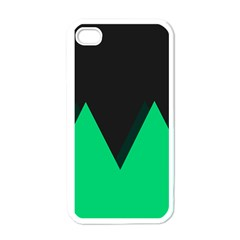 Soaring Mountains Nexus Black Green Apple Iphone 4 Case (white) by Alisyart