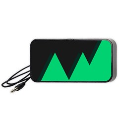 Soaring Mountains Nexus Black Green Portable Speaker (black) by Alisyart