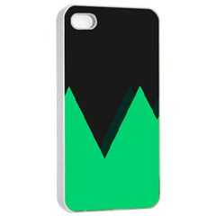 Soaring Mountains Nexus Black Green Apple Iphone 4/4s Seamless Case (white) by Alisyart