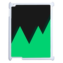 Soaring Mountains Nexus Black Green Apple Ipad 2 Case (white) by Alisyart