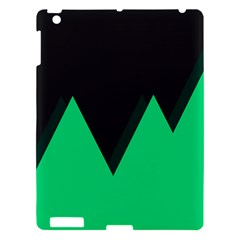 Soaring Mountains Nexus Black Green Apple Ipad 3/4 Hardshell Case by Alisyart