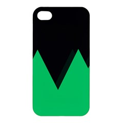 Soaring Mountains Nexus Black Green Apple Iphone 4/4s Premium Hardshell Case by Alisyart