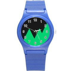 Soaring Mountains Nexus Black Green Round Plastic Sport Watch (s) by Alisyart