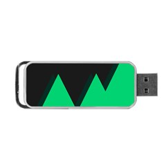 Soaring Mountains Nexus Black Green Portable Usb Flash (one Side) by Alisyart