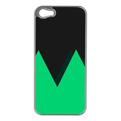 Soaring Mountains Nexus Black Green Apple Iphone 5 Case (silver) by Alisyart