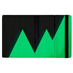 Soaring Mountains Nexus Black Green Apple Ipad 3/4 Flip Case by Alisyart