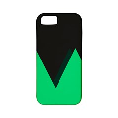 Soaring Mountains Nexus Black Green Apple Iphone 5 Classic Hardshell Case (pc+silicone) by Alisyart